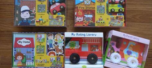 來自丹麥的創造力教具及童書●My Little Village系列木玩拼圖書盒●