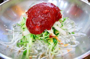 ♫驚呆了好吃庶民美食(夏限定),韓國釜山必吃_水拌赤魚刺身,涼拌扁魚刺身