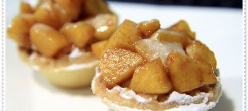 吃甜甜囉_焦糖肉桂蘋果塔
