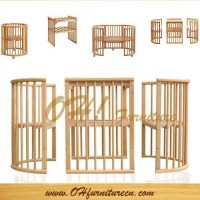 Classic Wood Round Baby Crib Bedding Sets of ohchairfactory