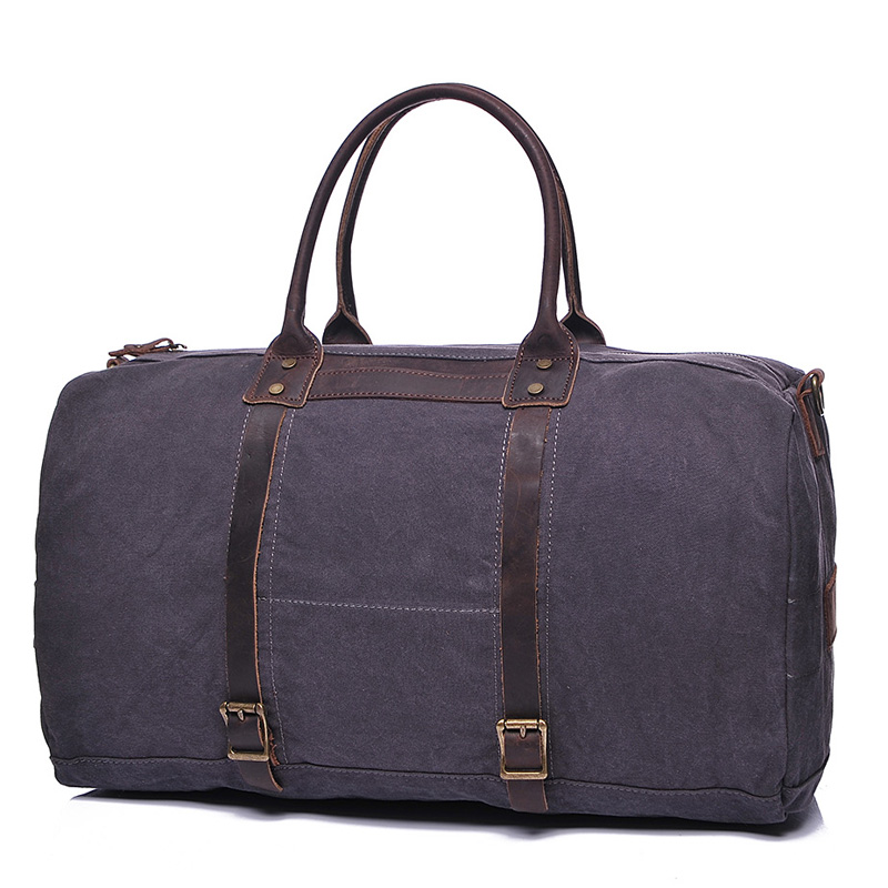 Night Bag Water Canvas & Leather Over-night Bag Lh1950_3 Colors