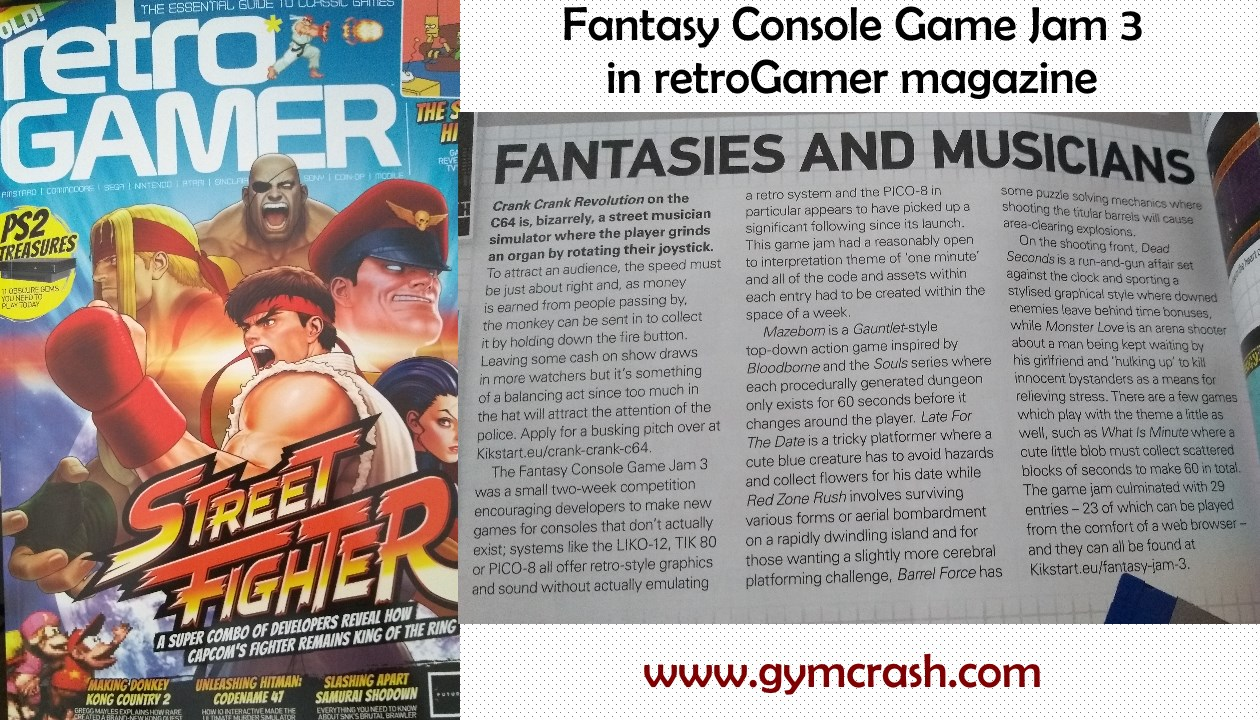Console Magazine Fc Jam 3 Featured In Retrogamer Magazine Fantasy Console Game