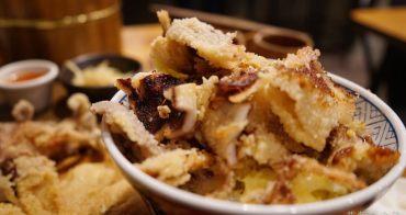 安和明肉食主義 || 台中草悟道附近浮誇系列丼飯,兩隻酥炸大魷魚和爐烤半雞撐到爆,還是寵物友善餐廳!