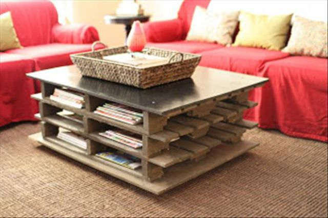 En Casa Couchtisch Creative Ways To Re-use Old Pallets (100 Pics) - Picture