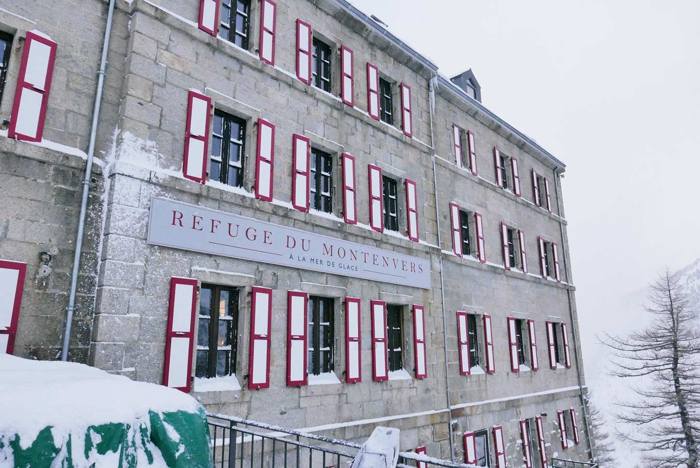 Hotel Montenvers Winter Greetings From The Glaciers Of Chamonix Mont Blanc