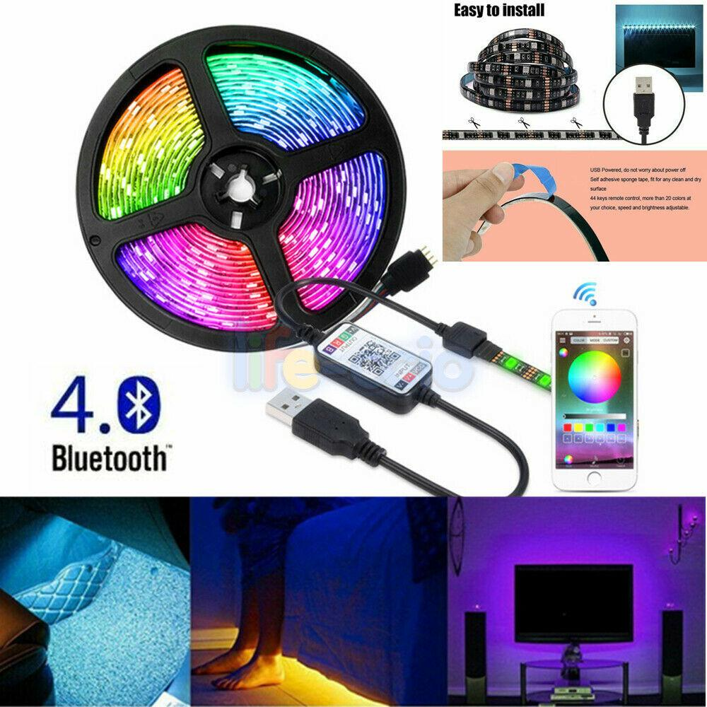 5050 Usb Powered 1m 5m Rgb Led Strip Light Wireless Bluetooth Control Lights Uk Buy From 7 On Joom E Commerce Platform