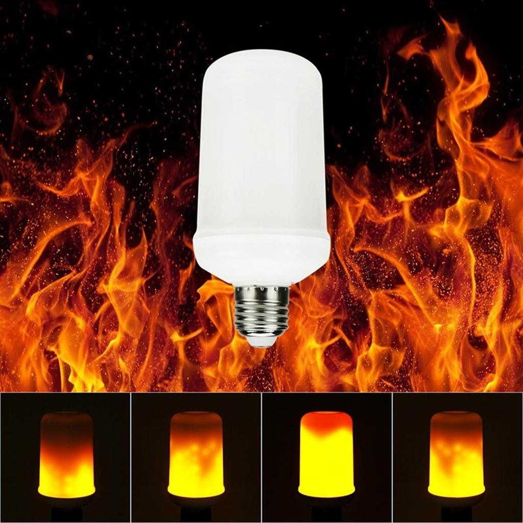 Flame Led Lamp E27 Led Bulbs E27 Led Flame Effect Fire Light Creative Lights Flickering Emulation Decoration Flame Lamp