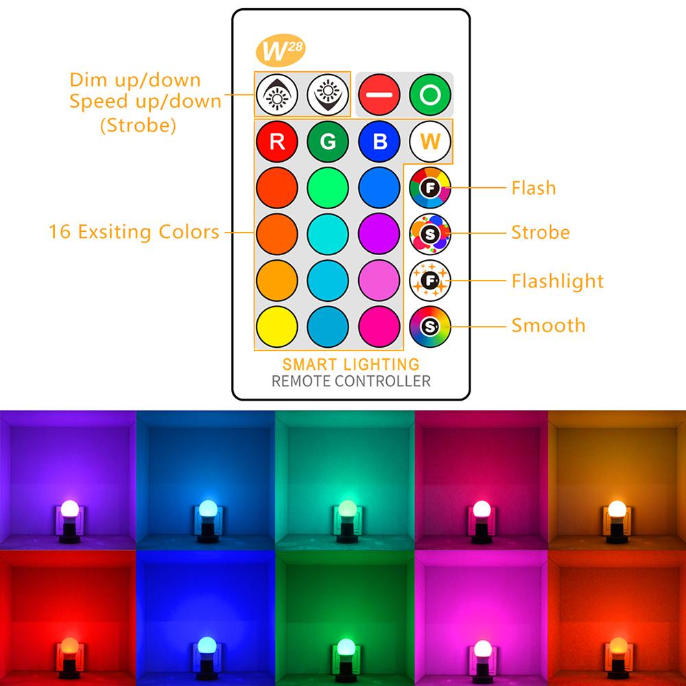 Led Bulbs Rgb Led Bulb E27 E14 16 Color Changing Light Candle Bulb Rgb Led Spotlight Lamp Ac85 265v Rgbw Led Bulb Fashion 5w Rgb Bulb E27 Color Changing Atmosphere Lighting Led Lamp Flash Strobe Party Decoration