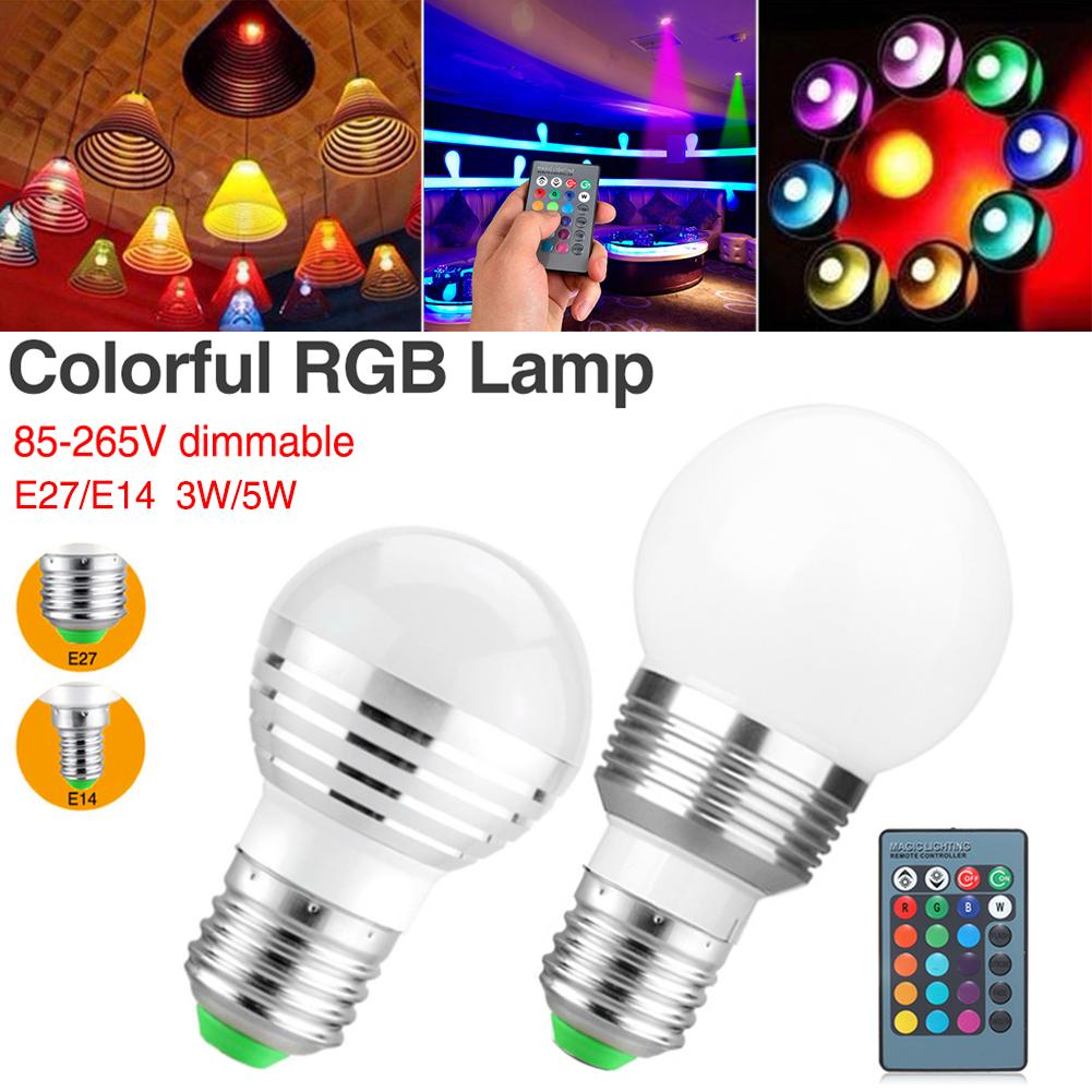 Led Bulbs Rgb Led Bulb E27 E14 16 Color Changing Light Candle Bulb Rgb Led Spotlight Lamp Ac85 265v Bulb Ac110 220v E27 E14 Gorgeous Atmosphere Lamp Rgb Led Light Ir Controller