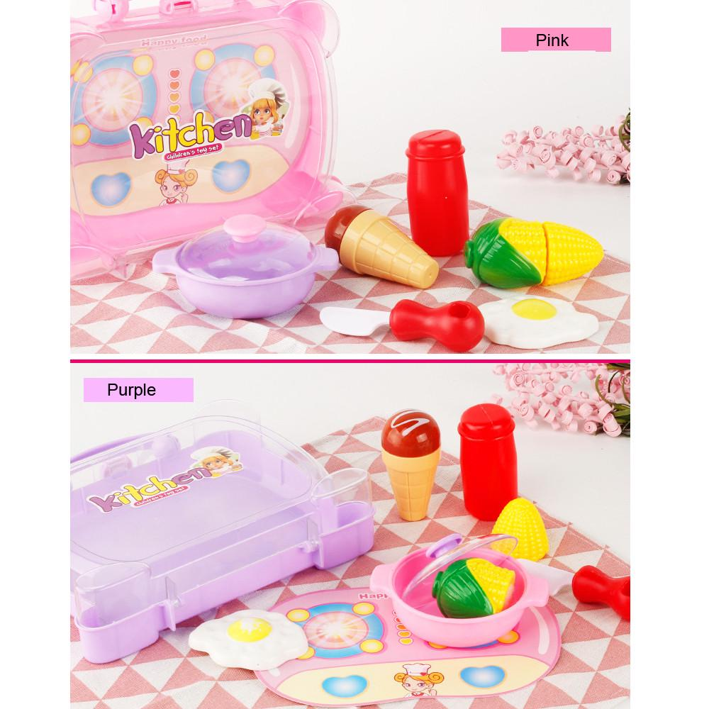 Play Doh Küche Pretend Toy 8pcs Children Kids Educational Cut Kitchen Hand Basket Pretend Play Toy