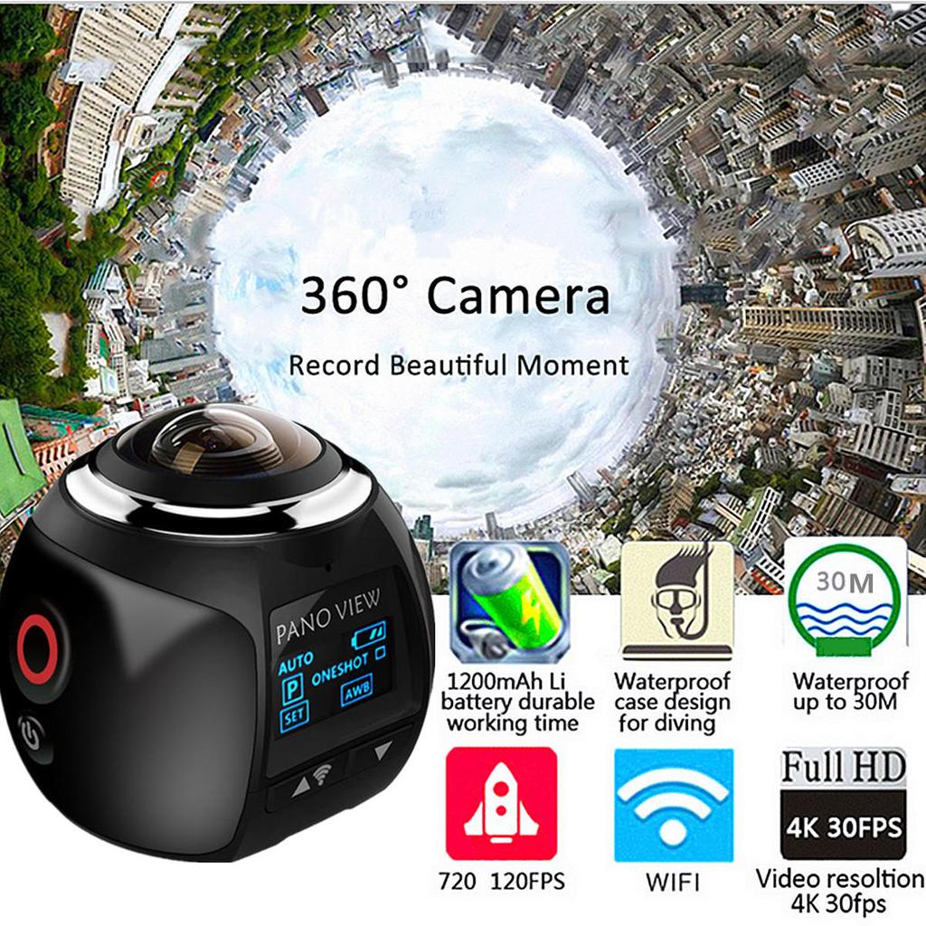 V1s Waterproof 4k Ultra Hd 96 Wifi 360 Panoramic Digital Vr Video Camera Dv Buy At A Low Prices On Joom E Commerce Platform