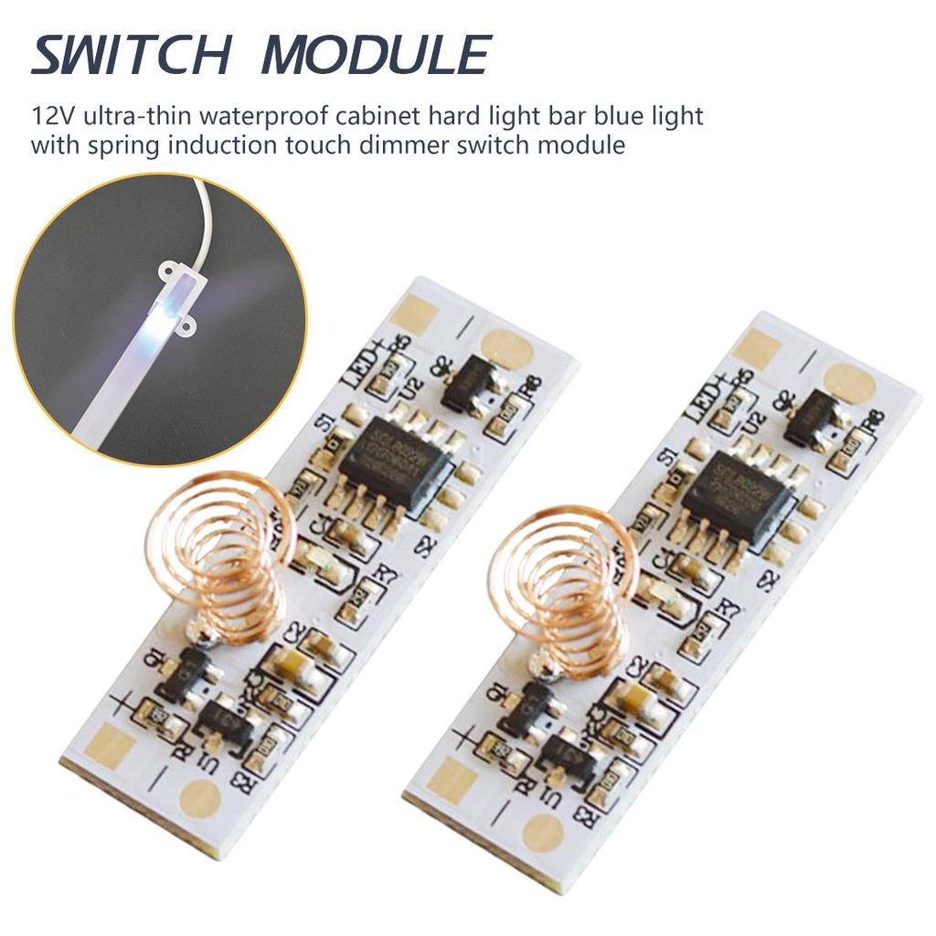 12v Ultra Thin Waterproof Cabinet Hard Light Bar Light Spring Induction Touch Dimmer Switch Module Buy From 3 On Joom E Commerce Platform