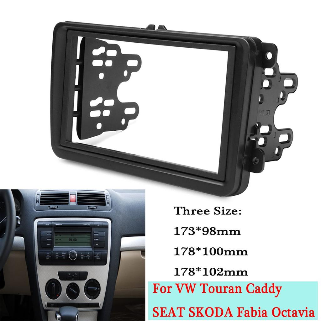 Seat Leon 2 Din Adapter Car Double Din Frame Fascia Panel Adapter Kit Dvd Dash Kit Trim For Volkswagen For Vw Touran Caddy Buy At A Low Prices On Joom E Commerce Platform