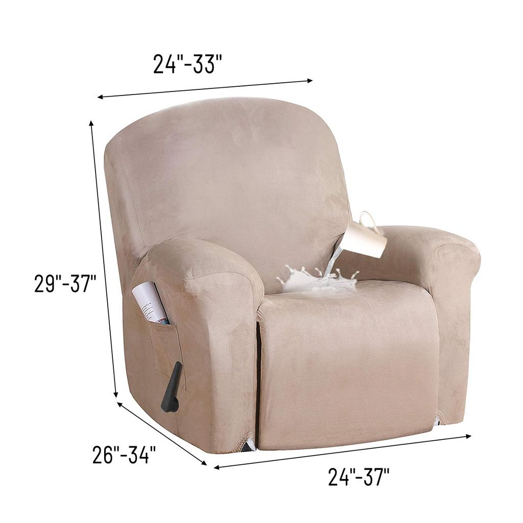 1pc Suede Recliner Cover Stretch Chair Slipcover Dustproof Massage Chair Seat Protector Buy At A Low Prices On Joom E Commerce Platform
