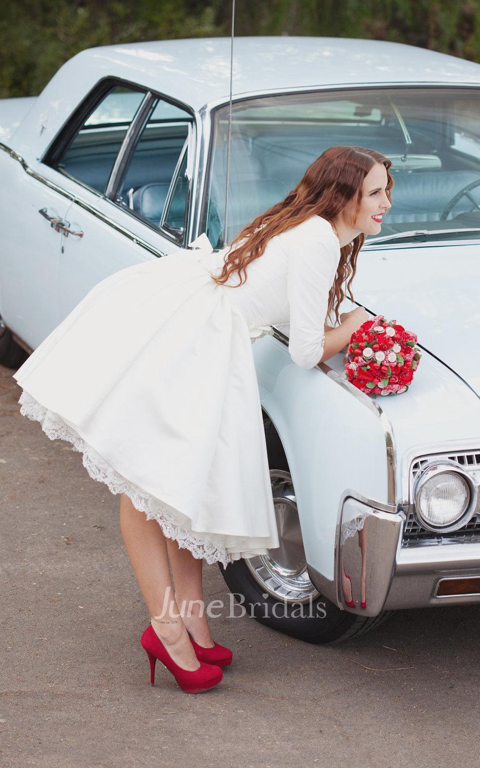courthouse wedding dress courthouse wedding dresses Short Wedding With Sleeves And Pockets Janie Jones Dress