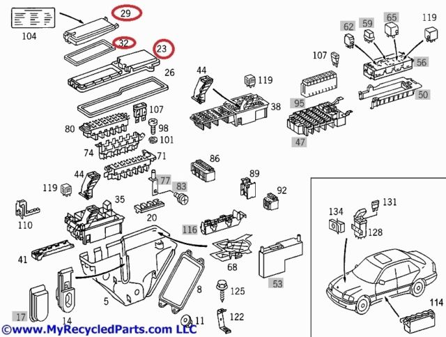 mercedes w202 fuse box diagram