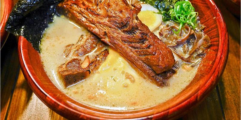 台中南屯區深夜拉麵 | 頑者炙燒拉麵。日式屋台街拉麵攤,黑豚雙肋排拉麵好酷又好吃,麵條滑Q、湯頭順口,加了起司的湯頭更是特別。