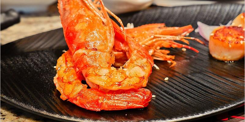 台中鐵板燒 | 燄鐵板燒旗艦店(東興路)-平價奢華的美食饗宴,雙人套餐超推薦,一餐吃下來好滿足。