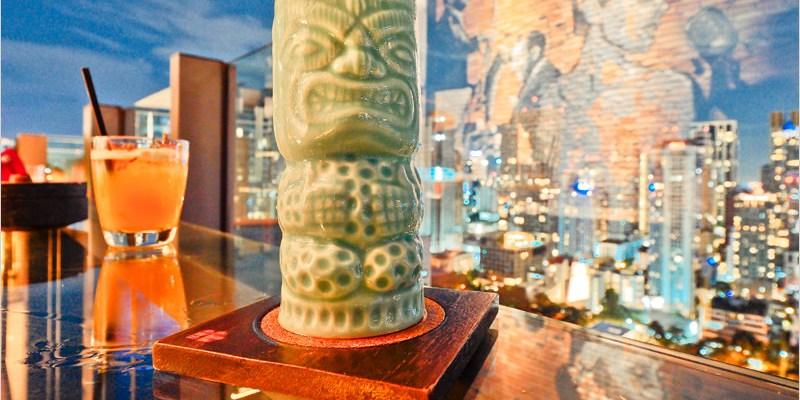 泰國曼谷高空酒吧 | INDIGO CHAR Rooftop bar-氣氛不錯、夜景也很美,飯店樓上的小型露天高空酒吧。