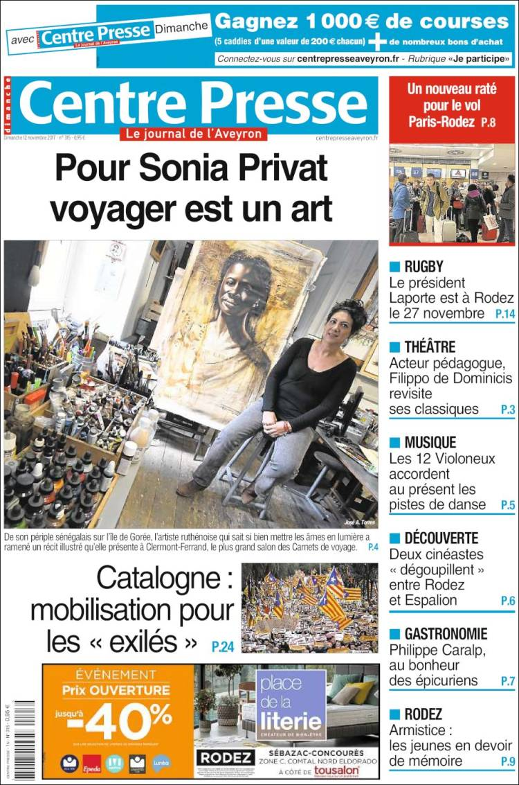 Tousalon Rodez Newspaper Centre Presse France Newspapers In France Sunday S