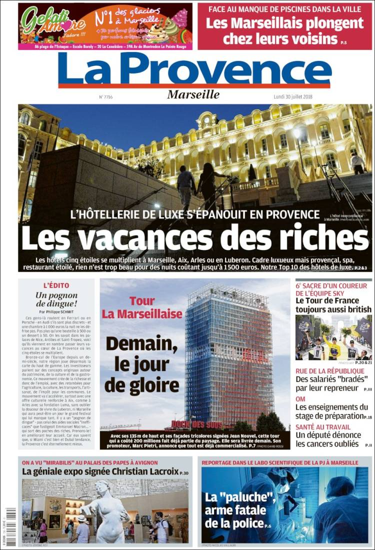 Region De La Provence Newspaper La Provence France Newspapers In France Monday S