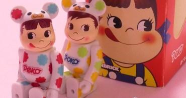 不二家 PEKO   2013年・BE@RBRICK・PEKO & POKO 庫柏力克熊造型娃娃 2入組    (收藏娃娃系列16)