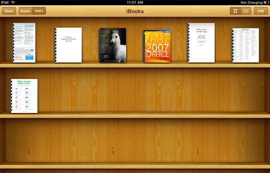 Bookshelf Iphone Wallpaper Read Pdf Files On Iphone Ipad And Ipod With Ibooks