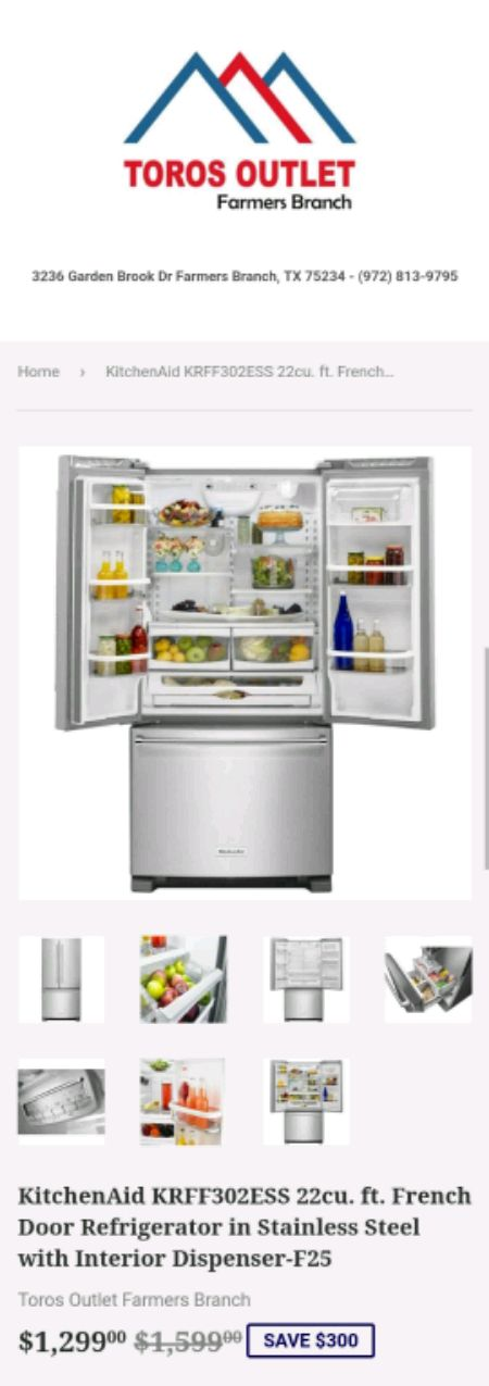 Kitchenaid Krff302ess Kitchenaid Krff302ess 22cu Ft French Door Refrig