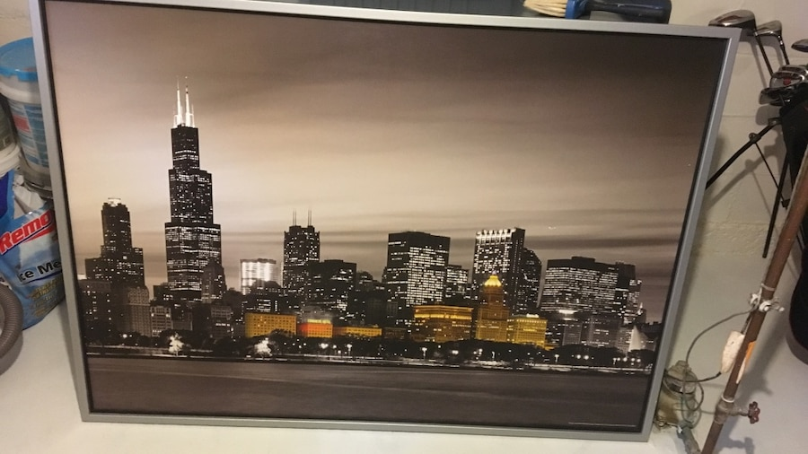 Ikea Near Chicago Used Chicago Skyline Wall Art (ikea) For Sale In Jackson