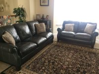 Used Shanghai Trayton Furniture Co. Genuine Leather Sofa ...
