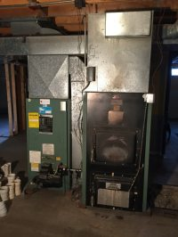 Used Oil and Wood furnace with Oil Tank in Lincolnville