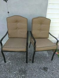Used Patio table and 4 chairs in new condition in Riverview