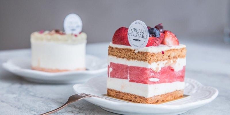 [台北信義]新加坡超人氣甜點店海外首發!西瓜也能做蛋糕!?Cream&Custard.TW