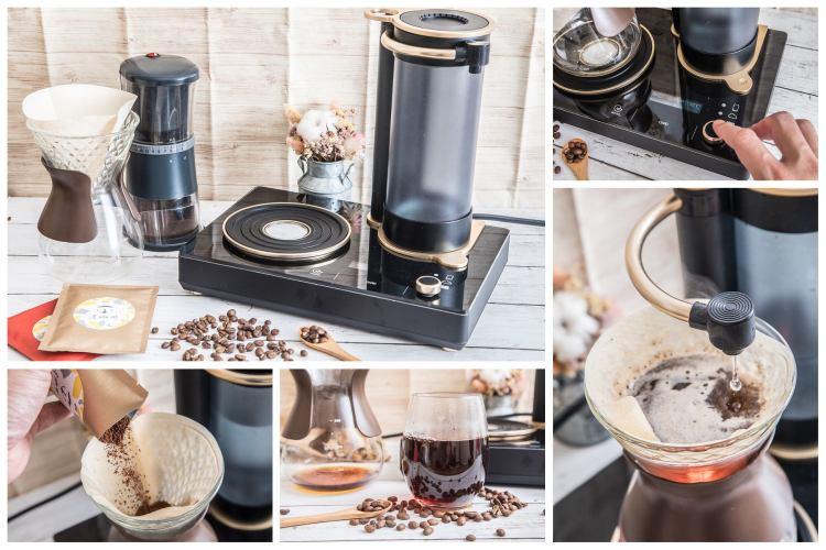 受保護的內容: [美型家電]手沖咖啡零技術!有了它,人人都是手沖咖啡大師!GEESAA咖啡樂譜智慧型手沖咖啡機