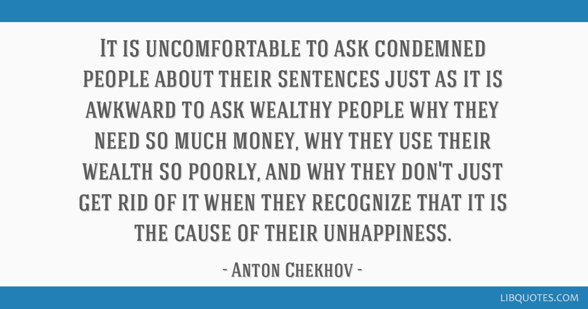 It is uncomfortable to ask condemned people about their sentences