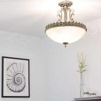 Deckenlampe Jugendstil Messing Deckenleuchte Wohnzimmer 3 ...