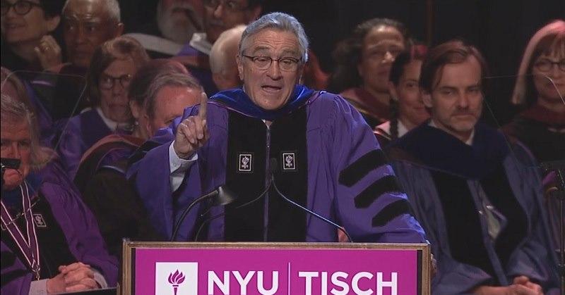 「実社会では二度とオールAなんか取れない」 ロバート・デ・ニーロが卒業生に贈った祝辞