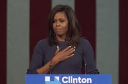 「大統領候補者が婦女暴行を自慢するなんて」オバマ夫人がトランプ氏の女性蔑視発言を痛烈に非難