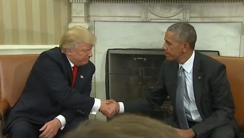 オバマ氏とトランプ氏が会談「あなたの成功がこの国の成功」