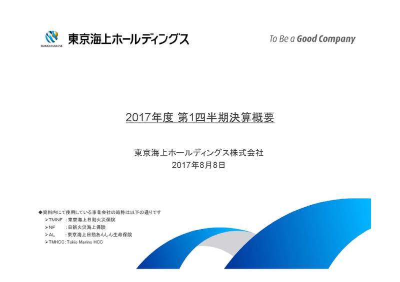 東京海上HD、1Q純利益9.4%減の881億円 正味収入保険料は2.8%増