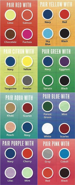 Color Coordination Chart 31 Insanely Useful Fashion Infographics For Women (part-i