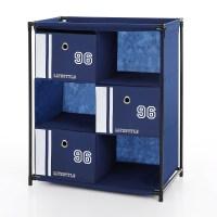 blue iKayaa Antique Fabric 3-Drawer Organizer Storage ...