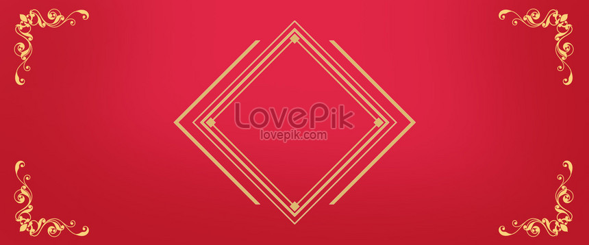 Red festive wedding invitation background backgrounds image_picture