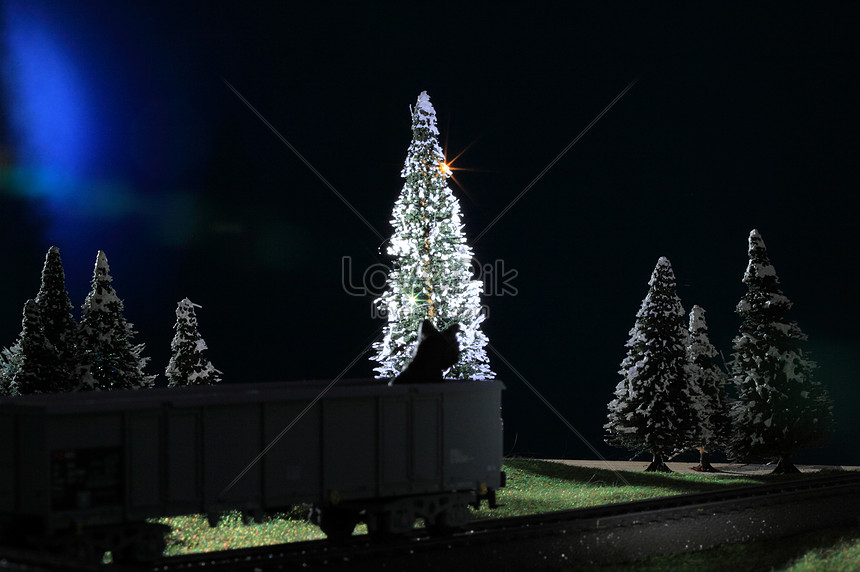 Snowy christmas tree photo image_picture free download