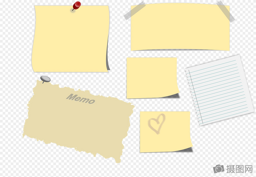 sticky notes template images_graphic elements pictures