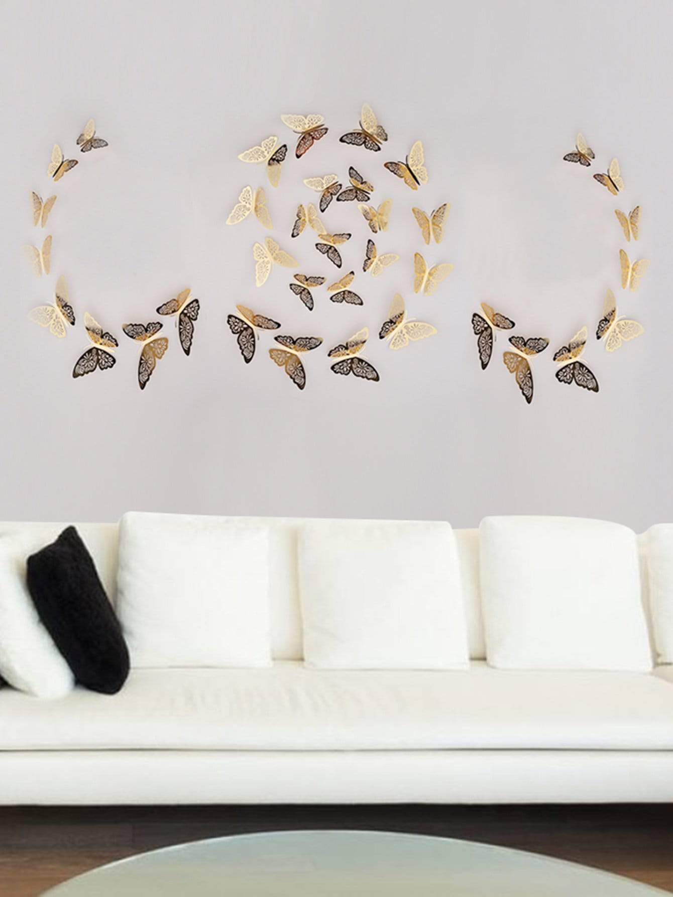 Adhesivo Decorativo Para Paredes Adhesivo Decorativo De Pared Con 12 Mariposas 3d Spanish