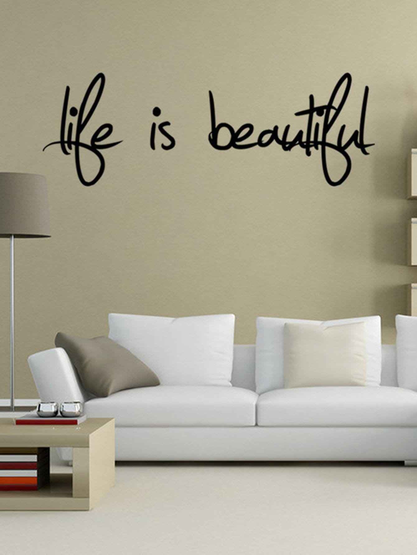 Adhesivo Decorativo Para Paredes Adhesivo Decorativo De Pared Con Frase Spanish Shein