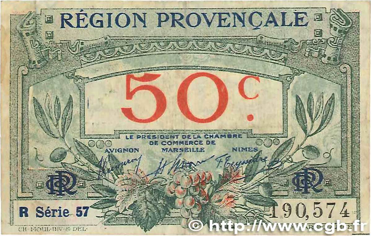 Chambre De Commerce Avignon 50 Centimes 1918 France Regionalism And Miscellaneous France Regionalism And Miscellaneous 50 Centimes 1918 Tb F