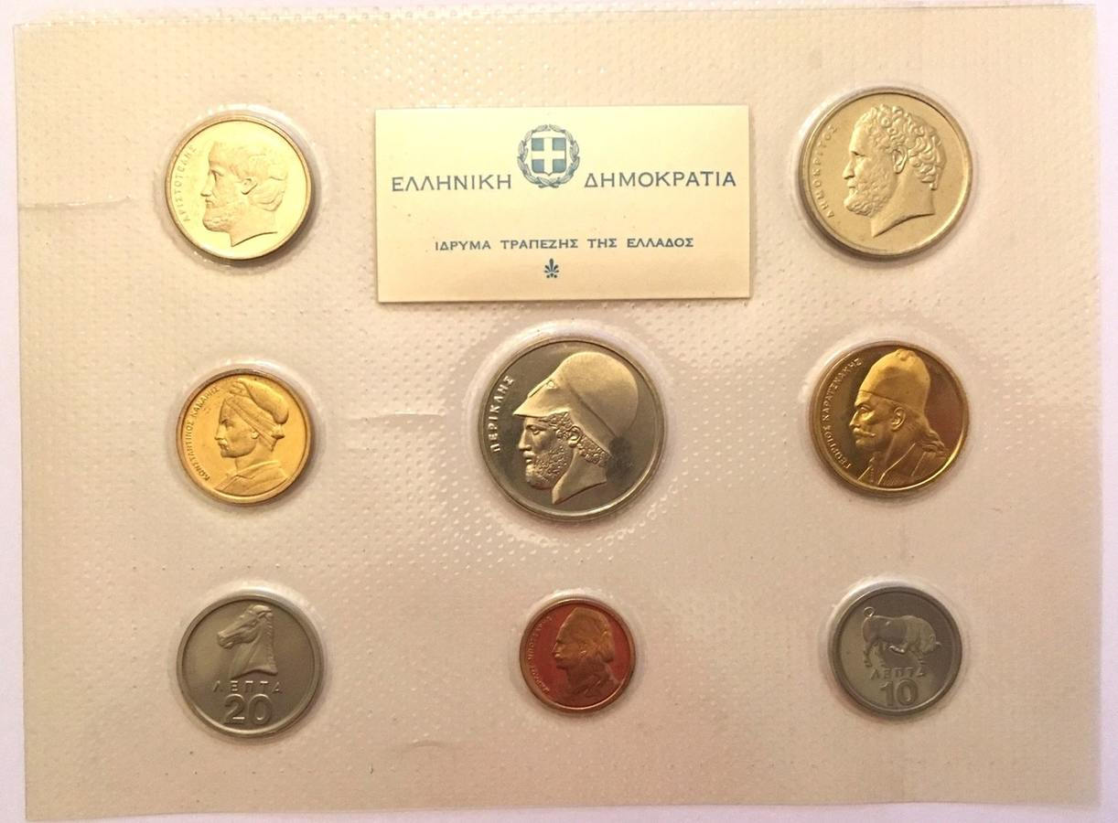 Mint Set 1978 Griechenland Greece 1978 Mint Set 8 Coins N0342 Bu