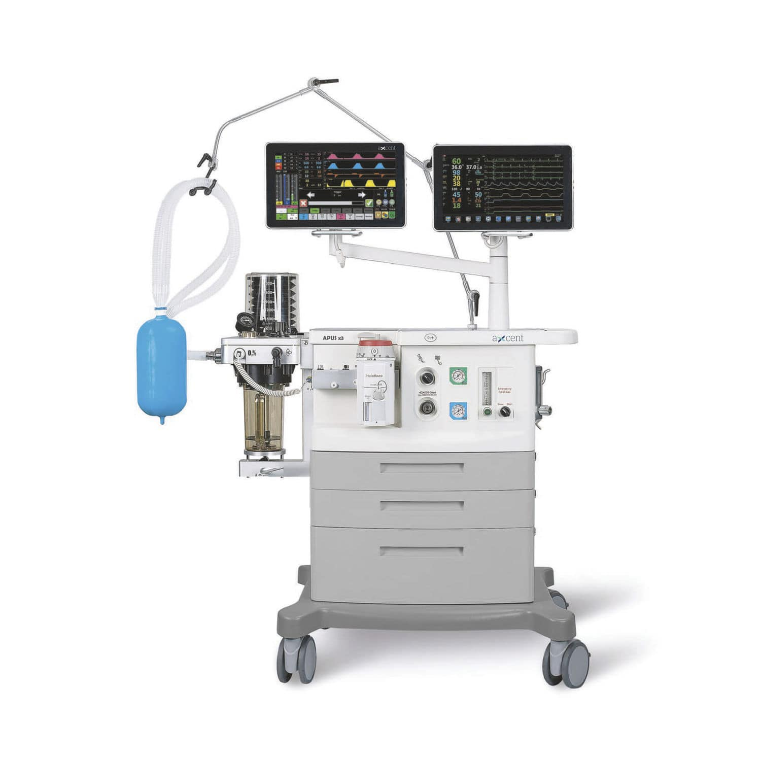 Design Ventilator Trolley Mounted Anesthesia Workstation With Respiratory